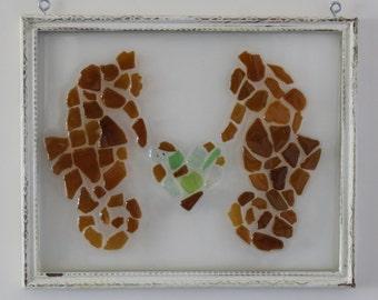 Sea glass seahorse love