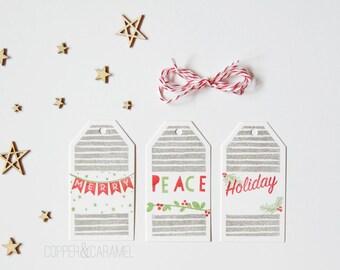 Holiday Gift Tags Set