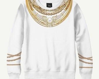 Necklace, Jewelry - Men's Women's Sweatshirt | Sweater - XS, S, M, L, XL, 2XL, 3XL, 4XL, 5XL