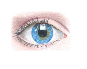 Windows To The Soul A4 Eye Illustration Print