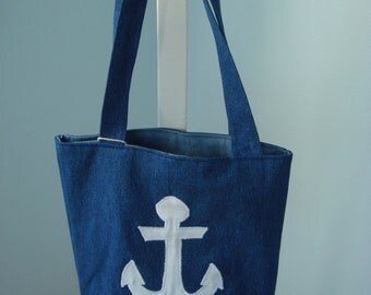 Nautical Denim tote bag