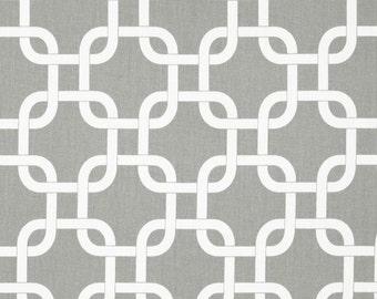 Premier Prints Cotton Twill Fabric, Gotcha Storm Fabric, Grey Interlocking Square Fabric