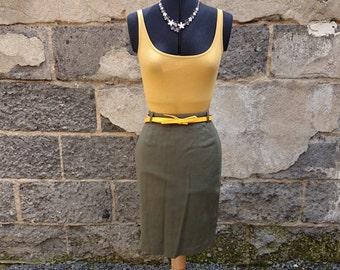 Woollen skirt vintage khaki midi Electra