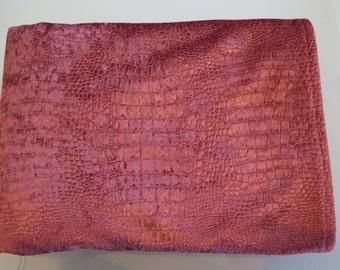Salmon/Red Crocodile Velvet Tablecloth/Handmade Tablecloth/Outdoor Tablecloth