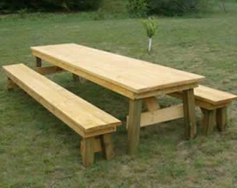 Classic Picnic Table with Separate Benches-How to Plan