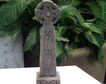 Celtic Cross Concrete Garden Statue Religious Cement Irish Sculpture Catholic European Figuren