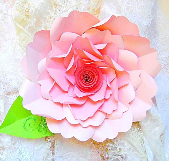 Diy large paper flower tutorial with templates rosette paper il570xn mightylinksfo