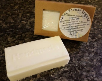 Homemade All Natural Goats Milk Lavender Moisturizing Soap Bar