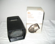 Sears 1970's Illuminated Slide Viewer  9962 2 X 2 Inch Slides 2 X Magnification Battery Operated! #BS