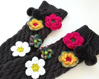 Wool-leggings warmers craft-Handmade Leg Warmers - Knit and crochet leg warmers -