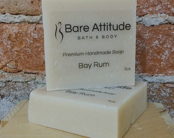 Bay Rum Olive Oil Soap Bar  (Vegan, Palm Free)