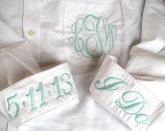 Bridal Party Monogrammed Oxford Shirts