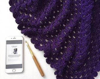 Crochet Triangle Scarf / Boho Shawl // The Mulberry // Handmade