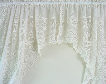 Ivory Lace Window Curtain