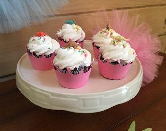 T-Rex's & Tiaras Princess Cupcake Wraps - Set of 12 - When your Princess wants to be a Dinosaur!