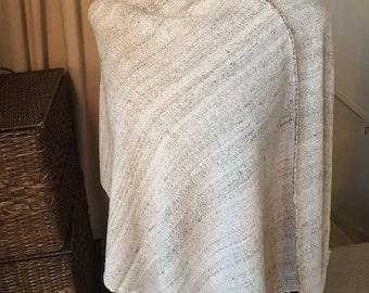 Silk Poncho, Raw Silk Clothing, Raw Silk, Long Poncho, Summer Poncho, Women Poncho