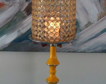 Beautiful 50 cm crystal beaded candle holder