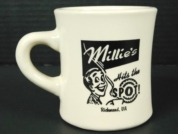 Millies hits the spot richmond va cafe coffee tea cup diner for Heavy ceramic coffee mugs