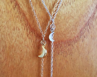 Pendulum Babe Lariat Statement Necklace in SILVER