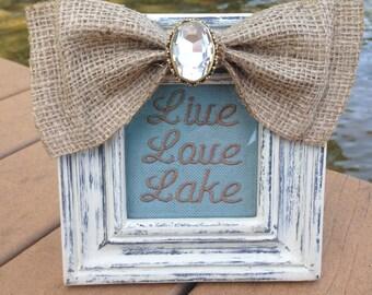 Live Love Lake Frame