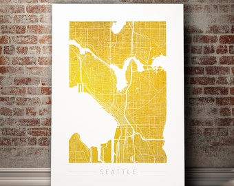Seattle map  Etsy
