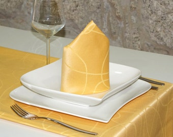 Luxury Gold Table Runner - Anti Stain Proof Resistant - Pack of 2 units - Ref. Lines