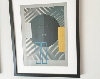 modern art picture,geometric art picture,wall art picture-shape and color silver style.