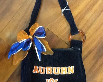 Handmade One of a kind Auburn purse!