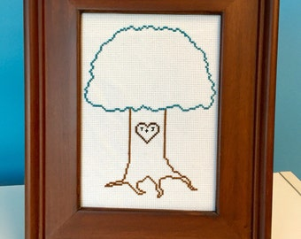 Tree of Love with Initials - customizable colors