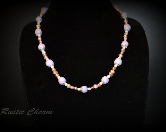 Pink Polymer and Pearls
