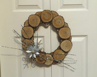 "Approx 14"" Wooden Wreath"