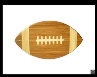Eco Friendly Bamboo Football Shaped Cutting Board