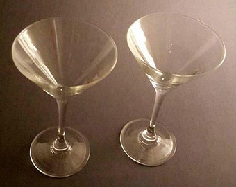 Clear Martini Drink Glasses