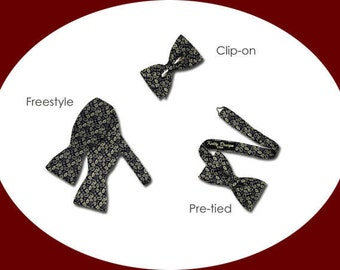 Bow Tie Styles and Widths Information