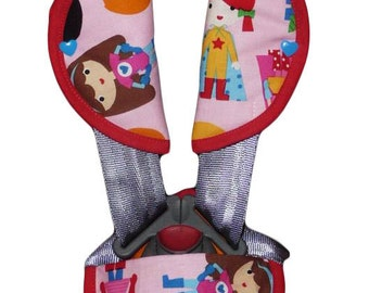 "Kit protects-belt / protect-safety strap ""LES PETITES HEROINES"" (baby and child)"