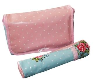 Bag diaper + door insulated bottle - pink spring - (bottle! Available!)