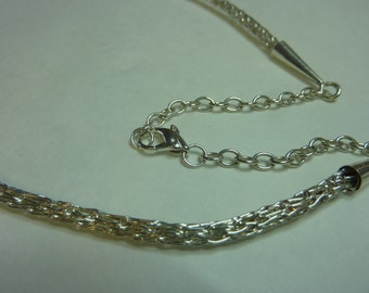 Sterling Silver Viking Weave Necklace - 4mm