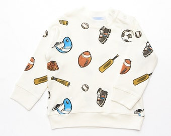 Baby boys Sports print  lightweight sweatshirts, toddlerBoy's Top, baby boy's tshirt,  sized from 3-6 months up to 18-24 months
