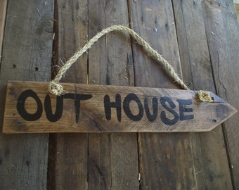Out house sign | Cabin sign | Bathroom sign | Lake house sign | Out house decor | Out house wall sign | Out house outdoor sign | Pallet sign