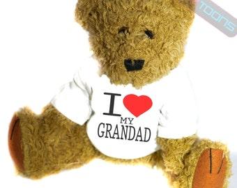 I Love My Grandad Novelty Gift Teddy Bear
