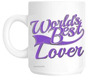 Lover World's Best Purple Novelty Gift Mug shan873