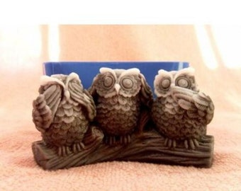 See, Speak, Hear No Evil Owls Silicone Mould