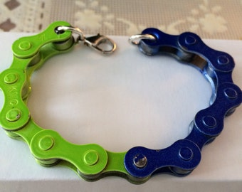 6 inch, Seahawk, Bicycle chain bracelet.