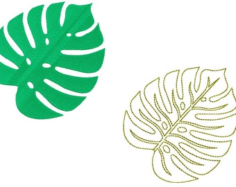 5x7 Elephant Palm leaf Machine embroidery design