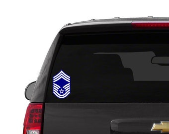 Air Force Rank Vinyl Decal, USAF Sticker, United States Military, US Veteran, Airman, Enlisted Insignia