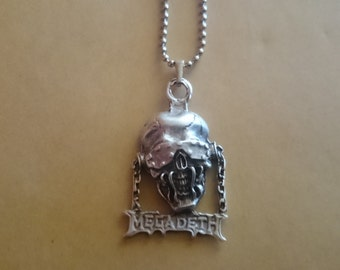 Megadeth Necklace 925 Silver Plated 3d