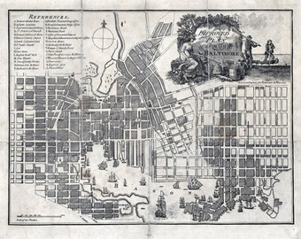 1804 Map of Baltimore Maryland