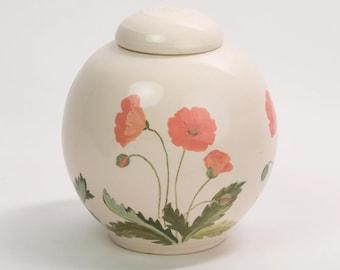 Large Poppy Urn