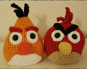 Crochet Angry Birds Red & Chuck