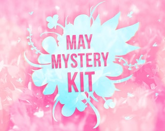 PRINTABLE May Mystery Kit Printable May planner sticker set Mystery Planner Sticker Set Planner Sticker Kit for Erin Condren May Sale
